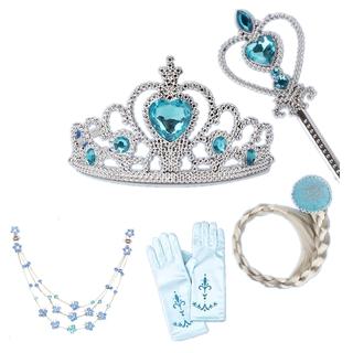 [Mã FASHIONCB273 giảm 10K đơn bất kỳ] NNJXD Bộ đồ phụ kiện tóc giả và găng tay hóa trang công chúa Elsa cho bé gái thumbnail