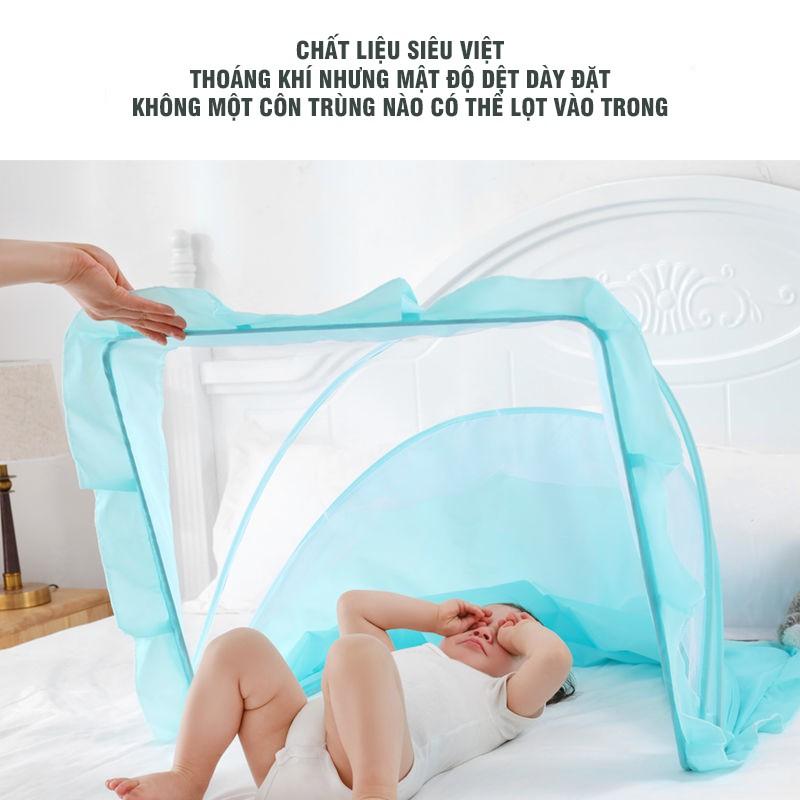 Mùng Ngủ Xếp Gọn Dành Cho Em Bé Kích Cỡ 100x56x60cm Thu Gọn Lại Chỉ Với 1 Tay Tiện Lợi