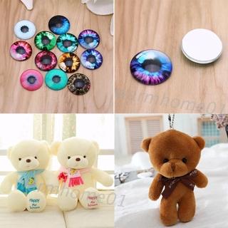 WM 20pcs Glass Doll Eyes DIY Crafts Eyeballs for Dinosaur Animals Eye Accessories