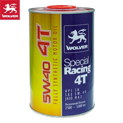 (TẶNG 1 NÓN 3/4 WOLVER 299k) Nhớt Wolver 4T Special Racing 5W-40 SN 1L (Fully Synthetic)_Nhớt xe máy cao cấp Nhập Đức