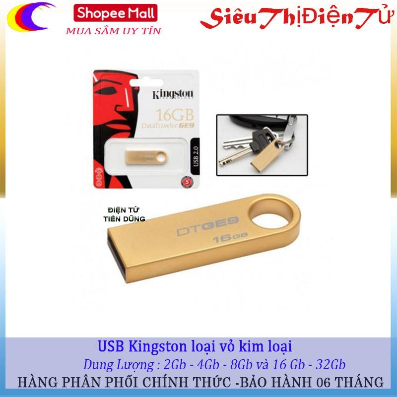 USB kingston loại 2Gb đến 32 Gb chất liệu vở Thép