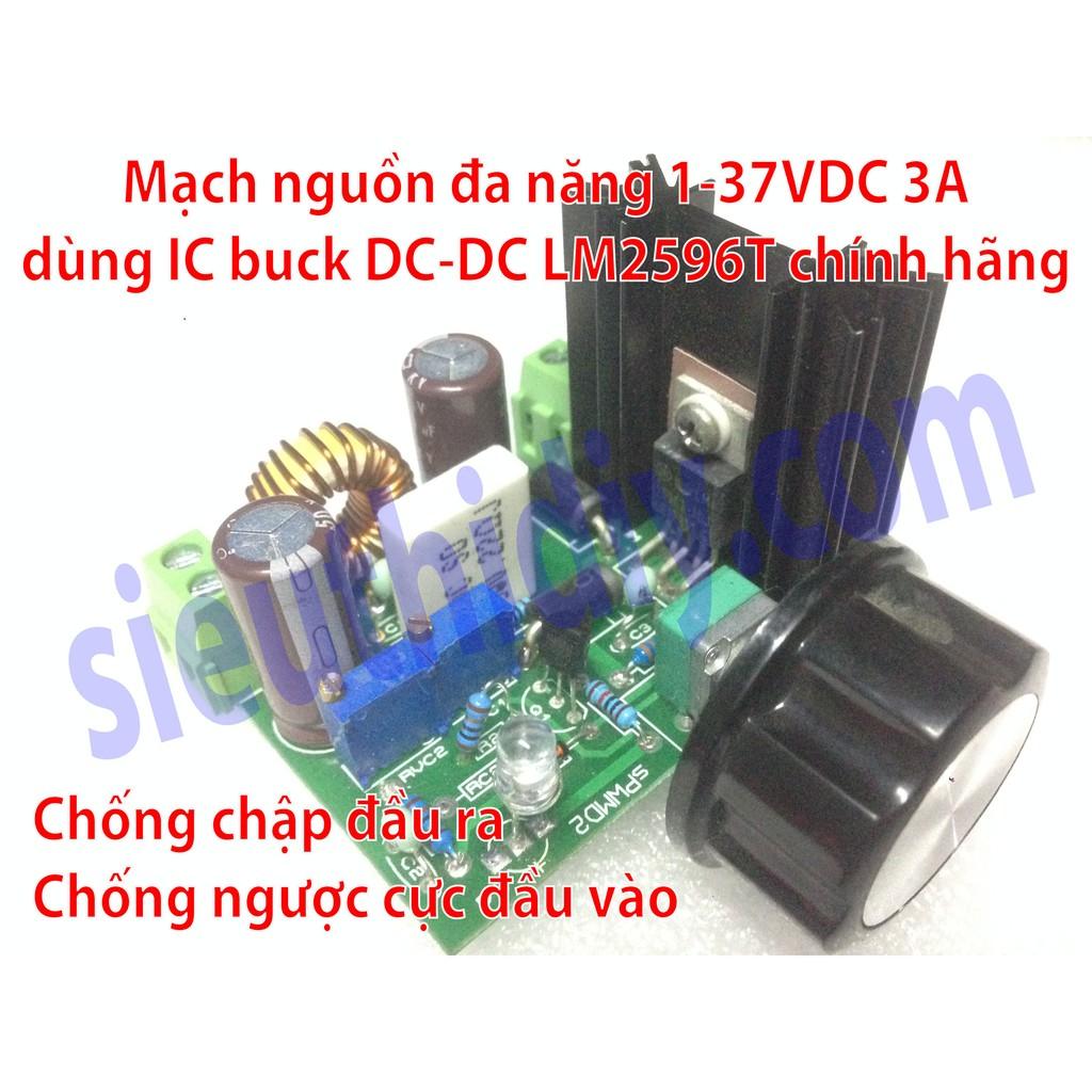Mạch nguồn đa năng 1-37VDC 3A dùng ic LM2596T chính hãng sPWMD2 - 3001923 , 515634093 , 322_515634093 , 120000 , Mach-nguon-da-nang-1-37VDC-3A-dung-ic-LM2596T-chinh-hang-sPWMD2-322_515634093 , shopee.vn , Mạch nguồn đa năng 1-37VDC 3A dùng ic LM2596T chính hãng sPWMD2