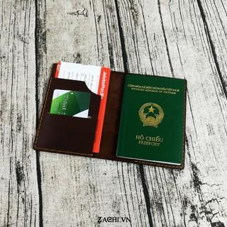 Ví đựng passport, ví đựng hộ chiếu da bò handmade - Kichi thumbnail