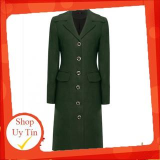 Áo khoác nữ dạ dài xanh rêu A6666 NỮ TNG Liên hệ mua hàng 084.209.1989