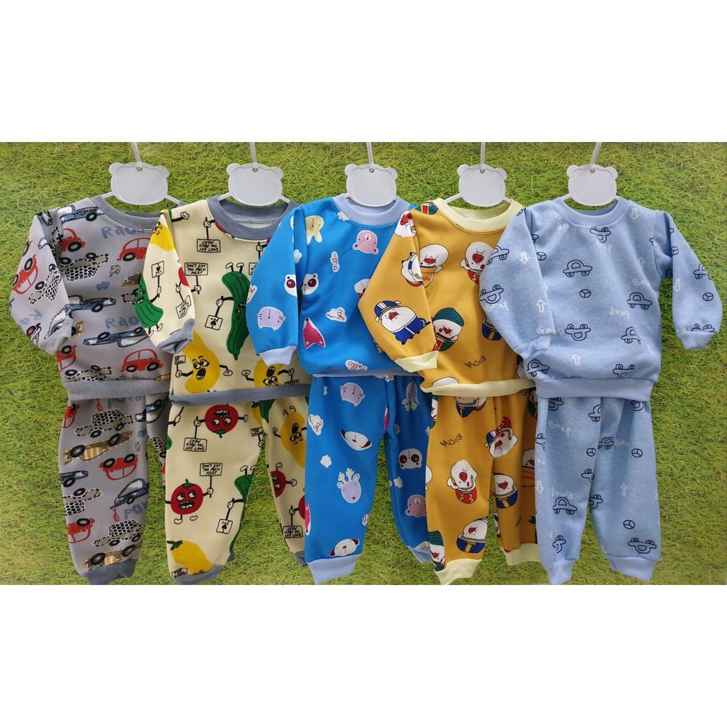 XẢ KHO_Combo 3 bộ quần áo nỉ bông trẻ em chui đầu  - HÀNG LOẠI 1