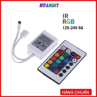 Bộ điều khiển hồng ngoại từ xa RGB DC12V Mini 24 phím thumbnail
