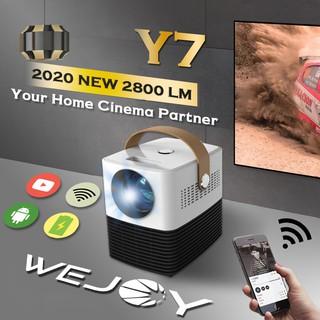 [Có Video] SIÊU MÁY CHIẾU MINI WEJOY Y7 HỖ TRỢ KẾT NỐI VỚI ĐIỆN THOẠI, LAPTOP MÀN FULL HD 1080P CÓ CỔNG HDMI