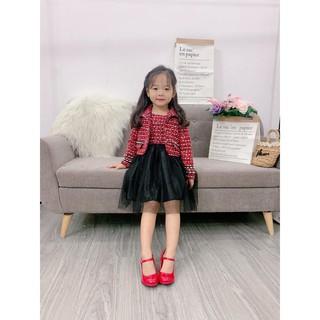 Set váy dạ chân váy voan cho bé gái