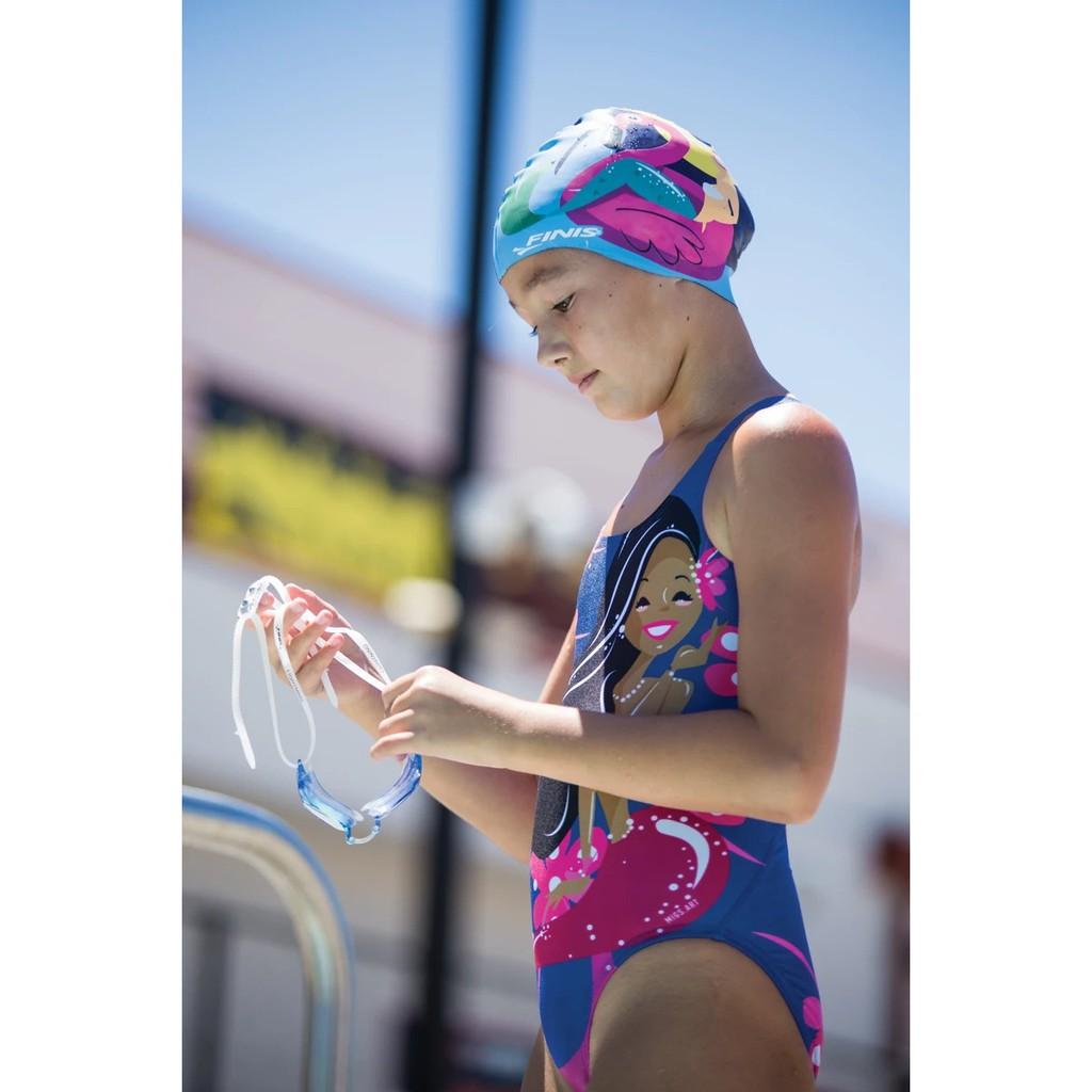 Nón Mũ Bơi Trẻ Em Tiên Cá FINIS Mermaid™ Kids Silicone Swim Cap