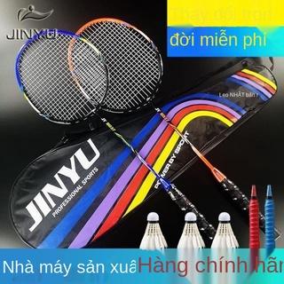 Bán trực tiếp vợt cầu lông siêu nhẹ người lớn vợt cầu lông nam nữ siêu nhẹ đánh đôi một bóng bền cho trẻ em tiểu học thumbnail