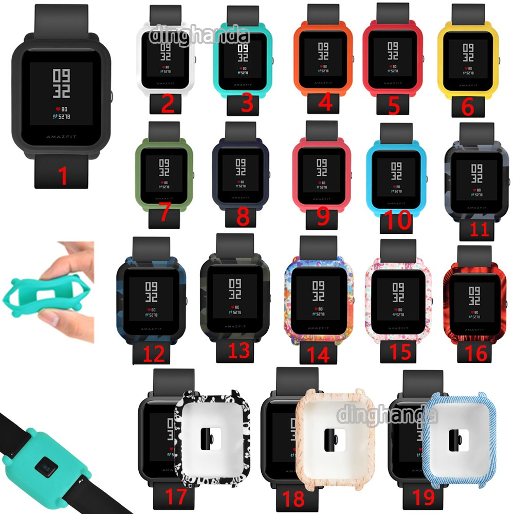 Silicone Case Full Cover Protective for Huami Amazfit Bip BIT Lite Youth