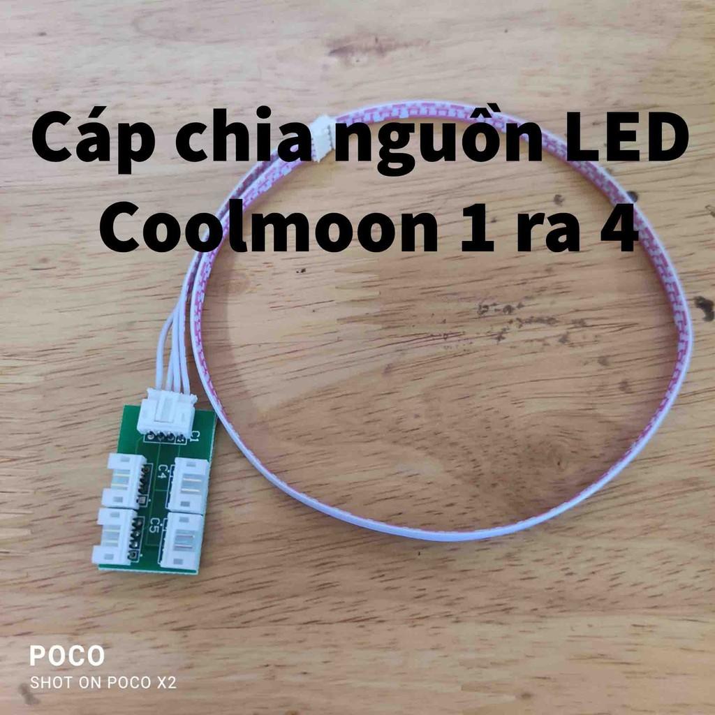 Cáp chia nguồn Led RGB Coolmoon Y1 1 ra 4 16 Triệu Màu Kèm 366 Hiệu Ứng