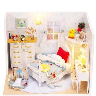 Bộ mô hình nhà gỗ DIY :Căn Phòng Lovely Princess Q-001