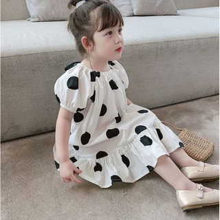 Đầm công chúa chấm bi thời trang mùa hè 2020 dành cho bé gái trẻ em
