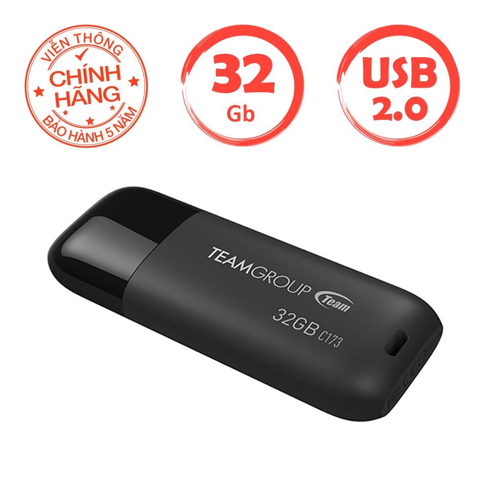 USB 32Gb 2.0 Team Group C173 INC (Đen) - Hãng phân phối chính thức - 2712955 , 726349012 , 322_726349012 , 268000 , USB-32Gb-2.0-Team-Group-C173-INC-Den-Hang-phan-phoi-chinh-thuc-322_726349012 , shopee.vn , USB 32Gb 2.0 Team Group C173 INC (Đen) - Hãng phân phối chính thức