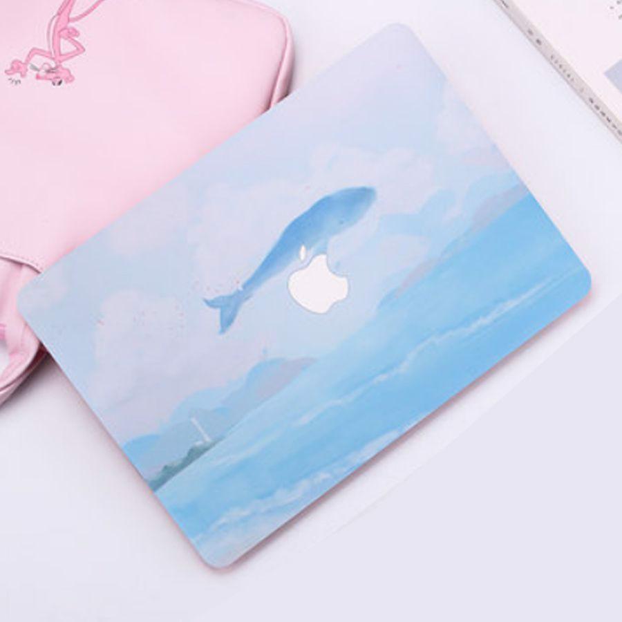Ốp Macbook hình Cá Voi Xanh ( tặng phủ phím ngẫu nhiên + nút chống bụi )