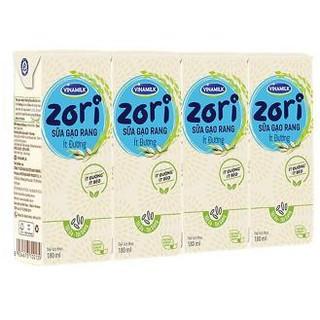 [COMBO] 6 lốc sữa gạo rang ít đường Vinamilk Zori 180ml