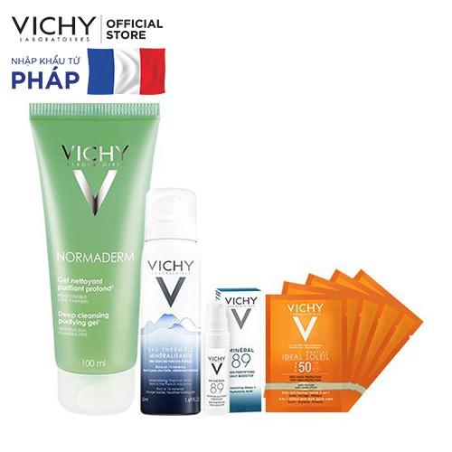 Bộ sản phẩm chăm sóc da dầu, mụn Vichy Normaderm _ TUVC00078BD