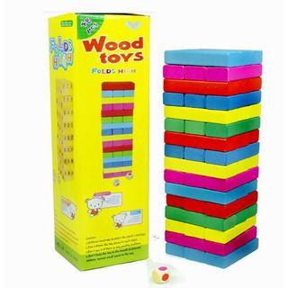 [Mã TOYSEP giảm 10% tối đa 15K đơn bất kỳ] [ HOT DEAL ] Rút gỗ màu 48 thanh loại lớn – Domino màu cho bé
