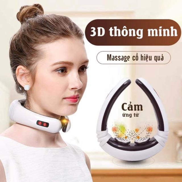 Máy massage cổ 3D cảm ứng xung điện từ