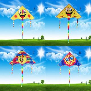 【tns】Huge 80cm Smile Face Single Line Novelty Expression Kites Children's Gift Toys【VN】