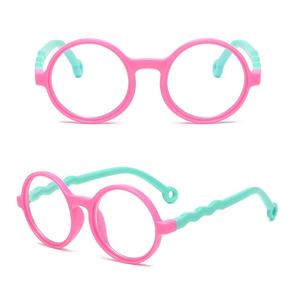 EMILEE💋 Age 3-10 Blue Light Blocking Glasses Silicone Frame Computer Gaming Glasses Blue Light Glasses for Kids Anti-eyestrain UV400 Protection...