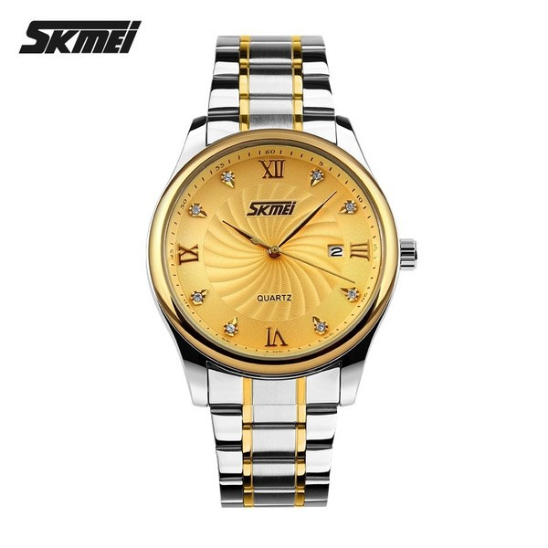 Đồng hồ nam Skmei 053 mặt vàng