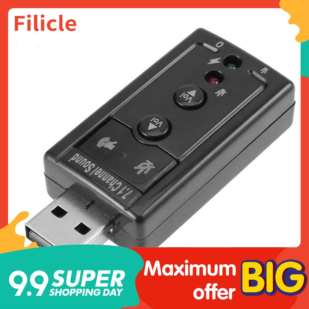 The Best?Mini External USB 2.0 Sound Card Virtual 7.1 Channel 3D Audio Adapter Converter Filicle - 14921477 , 2663304291 , 322_2663304291 , 22900 , The-BestMini-External-USB-2.0-Sound-Card-Virtual-7.1-Channel-3D-Audio-Adapter-Converter-Filicle-322_2663304291 , shopee.vn , The Best?Mini External USB 2.0 Sound Card Virtual 7.1 Channel 3D Audio Adapt