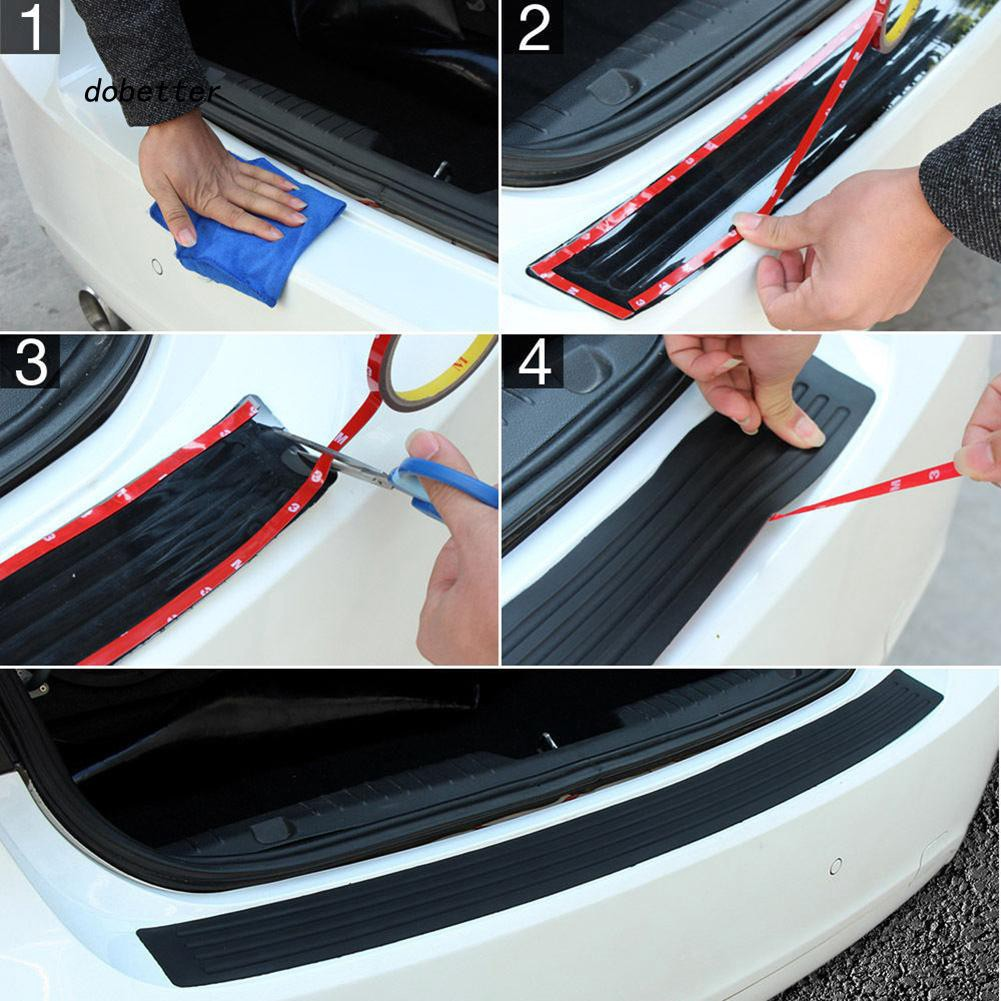 DOBT_Auto Car Trunk Boot Cargo Bumper Guard Rubber Cover Protector Decor Trim Strip