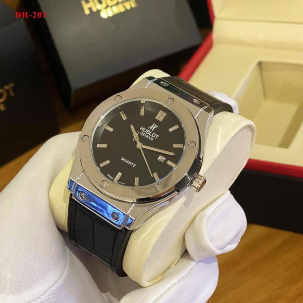 (Thẻ bảo hành 12 tháng) Đồng hồ nam Hublot - máy pin kim thể thao, tặng vòng bảo hành 12 tháng-HUblot.vientron