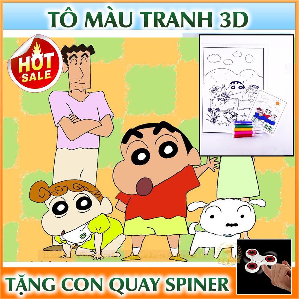 Bộ tranh tô màu 3D trẻ em + Tặng con quay cao cấp Spiner - 2957811 , 1030972312 , 322_1030972312 , 12000 , Bo-tranh-to-mau-3D-tre-em-Tang-con-quay-cao-cap-Spiner-322_1030972312 , shopee.vn , Bộ tranh tô màu 3D trẻ em + Tặng con quay cao cấp Spiner