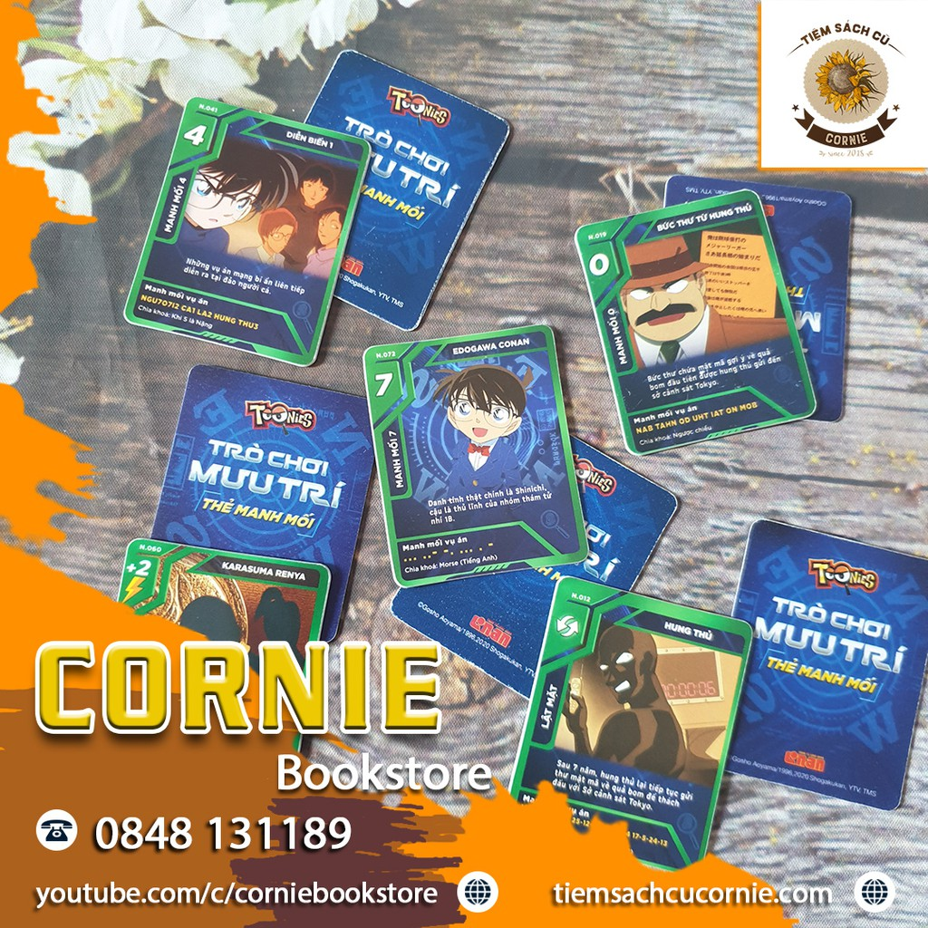 Thẻ Toonies CONAN – Trò Chơi Mưu Trí – Thẻ Xanh Lá