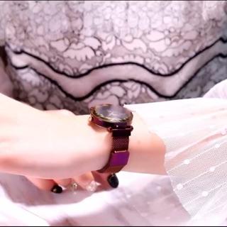 [NEW 2019 TẶNG PIN] Đồng hồ nữ Mobangtuo dây lụa khóa nam châm siêu sang chảnh