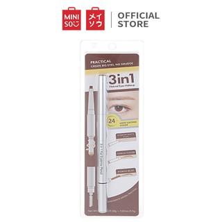 Bút kẻ chân mày Miniso 3 in 1 Flat Eyebrow Pencil 0.68 g (Nhiều màu) - Hàng chính hãng thumbnail
