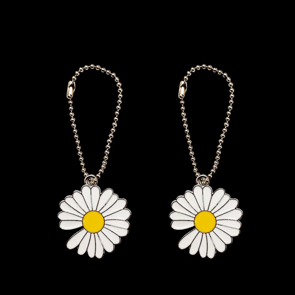 Fashion Small Daisy Sun Flower Hanging Chain Accessories Buckle Pendant