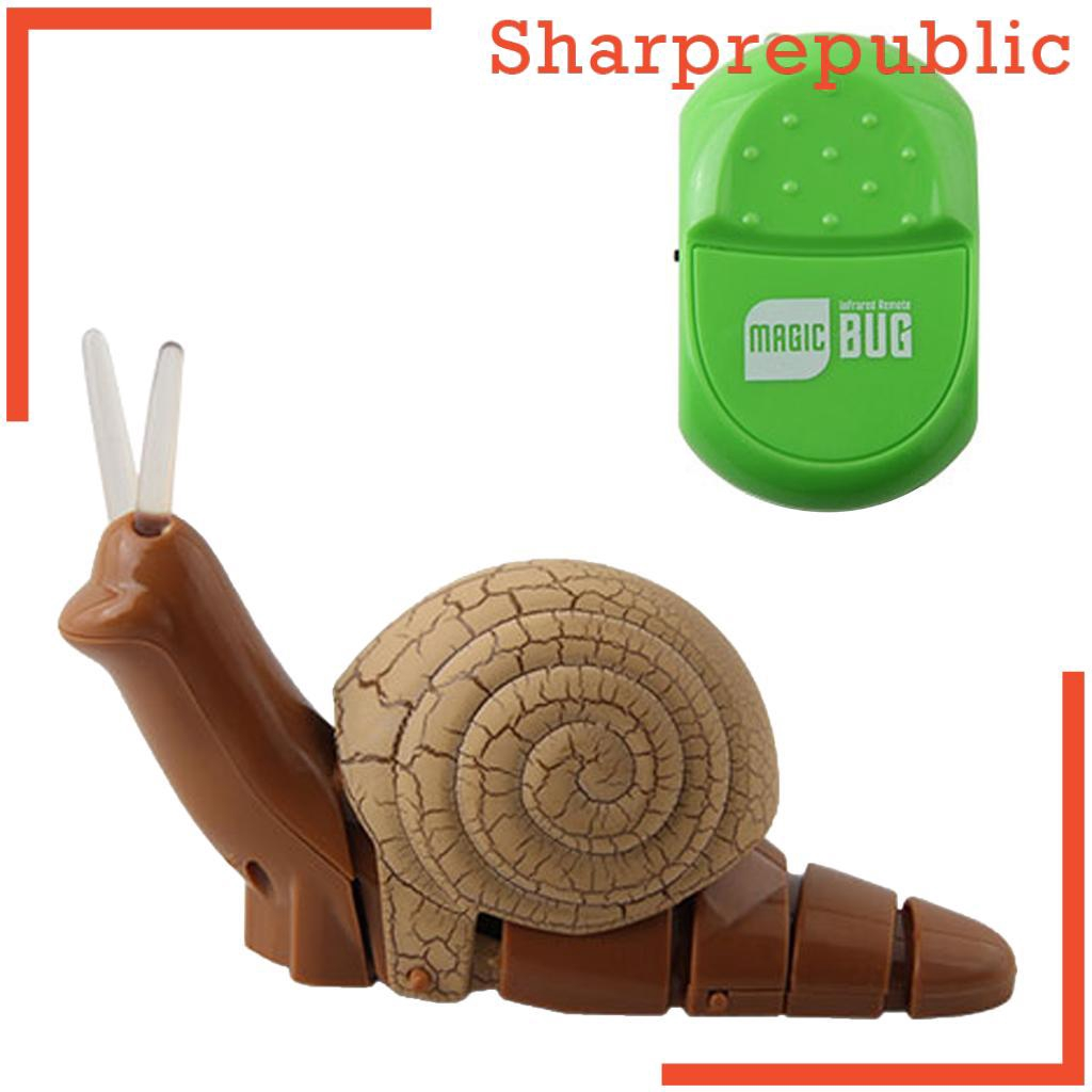 [SHARPREPUBLIC] Remote Control Mock Fake Snail RC Toy Prank Insects Joke Scary Trick Bugs