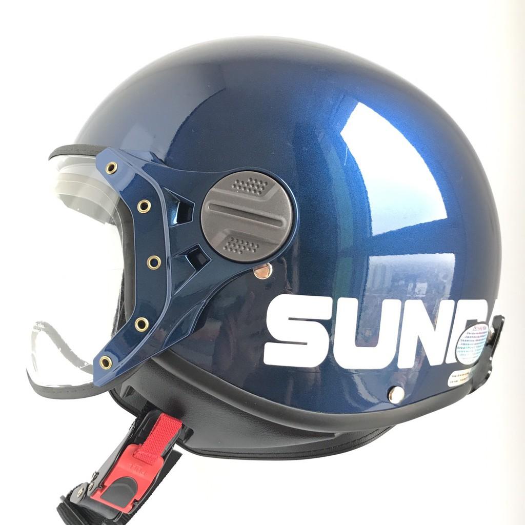 Mũ bảo hiểm Sunda 103D xanh tem bóng