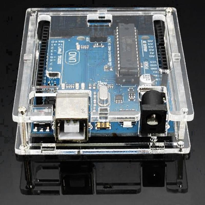 Transparent Acrylic Shell Box, For Arduino UNO R3 Module Board,Goodheat dispersion Giá chỉ 35.000₫