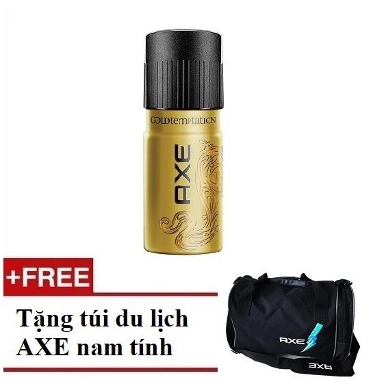[QUÀ] Xịt khử mùi hương nước hoa toàn thân nam AXE Gold 150ml (MSP 67224976)+Tặng túi du lịch AXE - 3256346 , 532890118 , 322_532890118 , 108000 , QUA-Xit-khu-mui-huong-nuoc-hoa-toan-than-nam-AXE-Gold-150ml-MSP-67224976Tang-tui-du-lich-AXE-322_532890118 , shopee.vn , [QUÀ] Xịt khử mùi hương nước hoa toàn thân nam AXE Gold 150ml (MSP 67224976)+Tặng