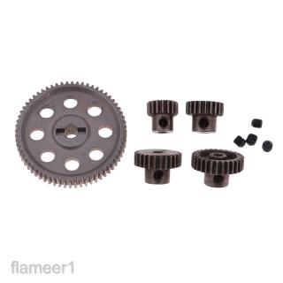 Steel Diff Main Gear with 4Pcs Motor Pinion Cogs for HSP 94111 94123 RC Car