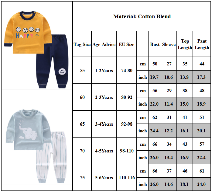 Bộ Đồ Ngủ Cotton Dài Tay Họa Tiết Hoạt Hình Xinh Xắn Dành Cho Bé 1-6 Tuổi