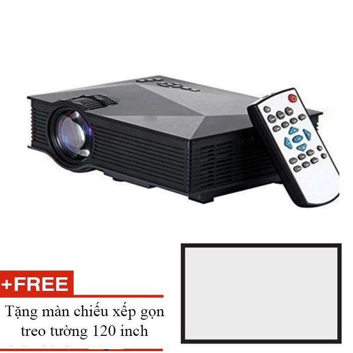 Máy chiếu UC46 kết nối không dây kèm remote tặng màn chiếu 120inch