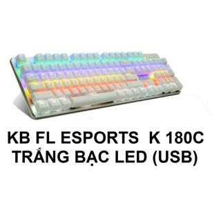 BÀN PHÍM FL ESPORTS K 180C TRẮNG BẠC LED thumbnail