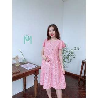 Đầm bầu mặc nhà,cho con ti sau sinh ☘️ cực mát