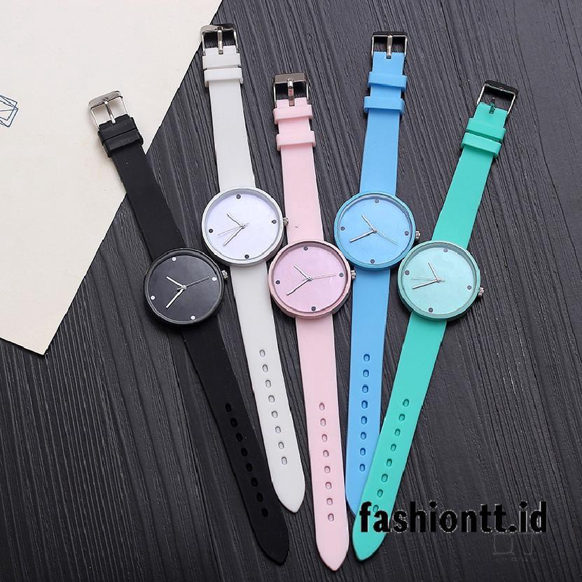 Đồng hồ điện tử dây đeo silicon nhiều màu phong cách Hàn Quốc cho nữ