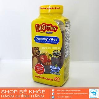 Kẹo Dẻo Lil Critter Gummy Vites Complete Multivitamin – Kẹo vitamin tổng hợp 300v