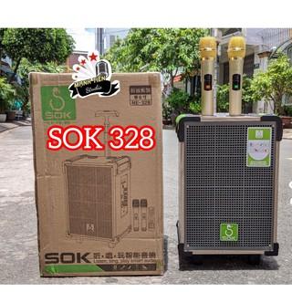 [Tặng kèm 2 micro không dây] Loa kéo SOK 328 bass 2 tấc cực hay