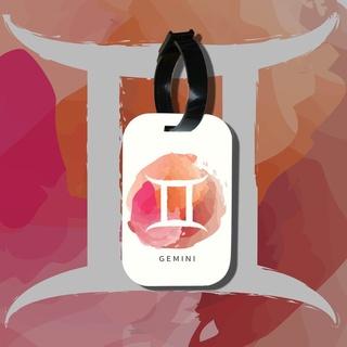 Travel tag cho túi xách balo du lịch in hình Cung hoàng đạo Gemini Song Tử thumbnail