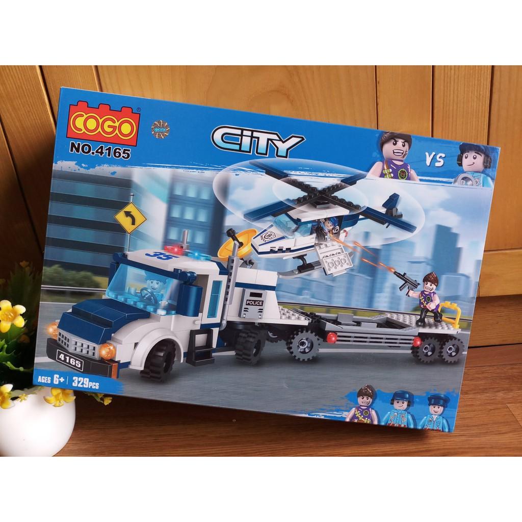 W084544 - 329PCS Đồ chơi Lego City Đội cảnh sát tuần tra 4165