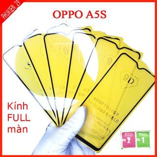 Kính cường lực Oppo A5S full màn hình, Ảnh thực shop tự chụp, tặng kèm bộ giấy lau kính taiyoshop2 thumbnail
